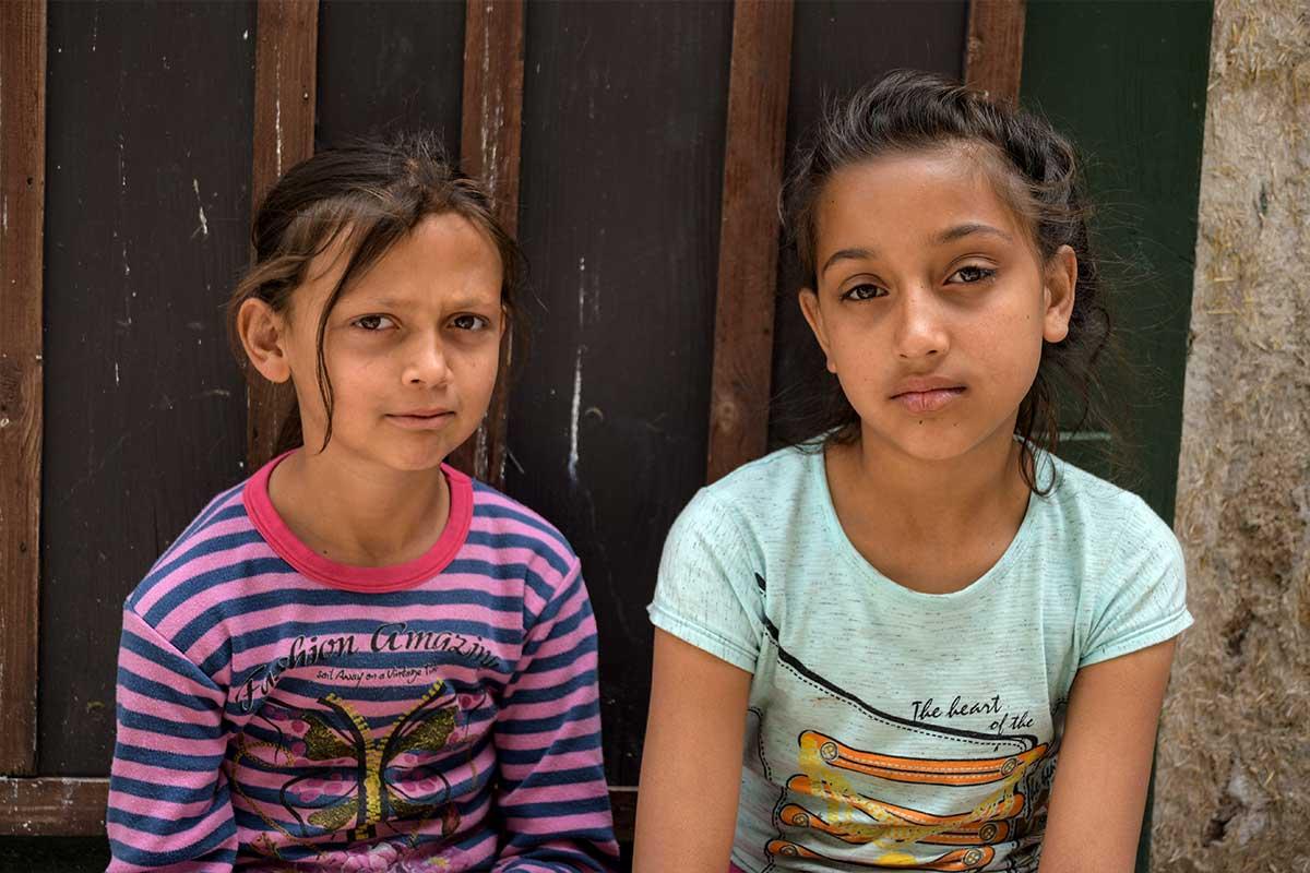 bambine in strada ad Ankara