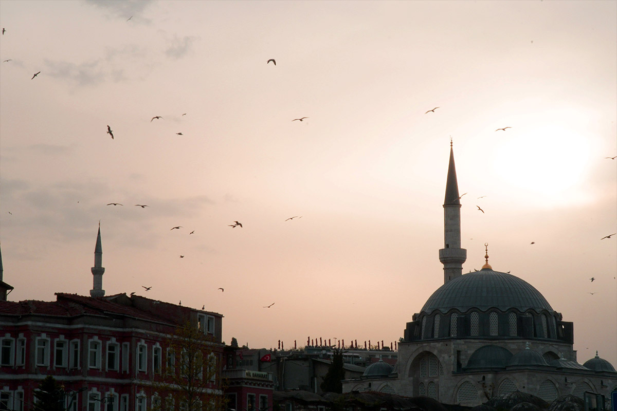 tramonto a istanbul