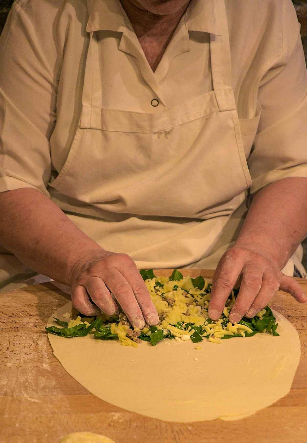 donna che cucina a Istanbul