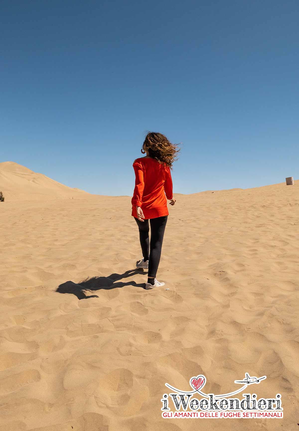 nel deserto di huacachina