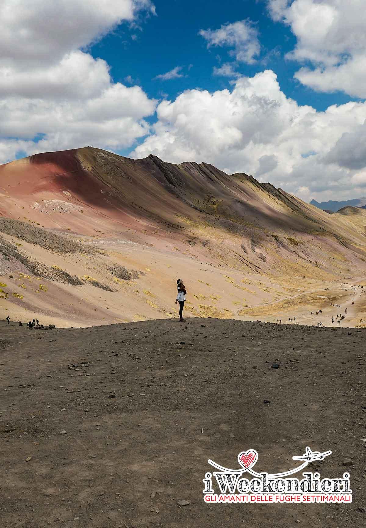il panorama della montagna colorata