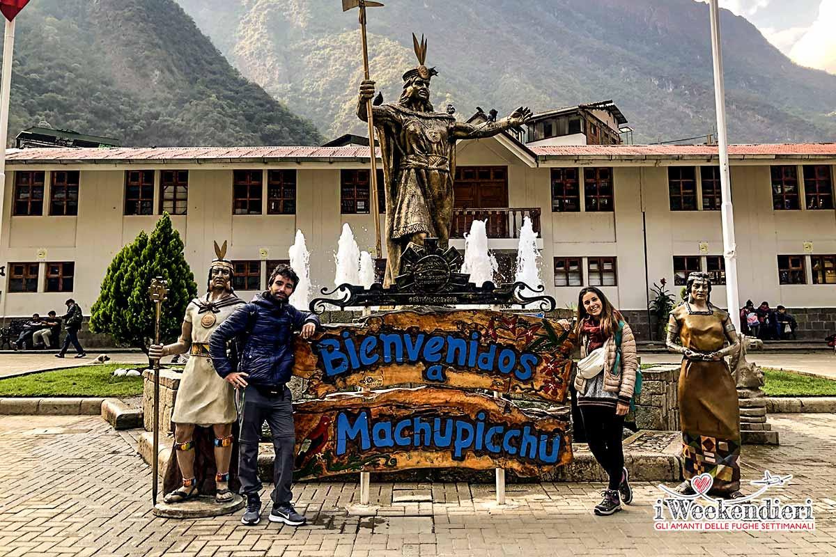 benvenuti a machu picchu