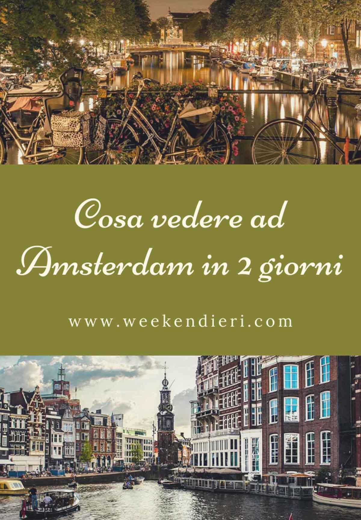 cosa vedere ad Amsterdam in 2 giorni